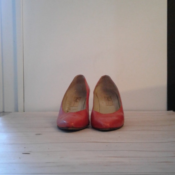 Red heels by Amalfi for women
